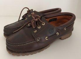Timberland Zapatos de marinero marrón oscuro-marrón Cuero