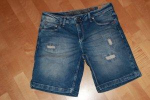 Timezone Denim Shorts steel blue cotton