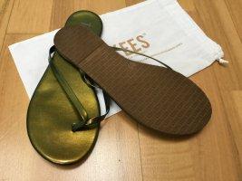 Sandalias con talón descubierto verde-verde bosque