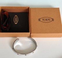 Tod's Sztywna bransoletka w kolorze białej wełny-jasnoszary