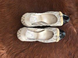 Tod's Ballerines pliables beige clair-noir