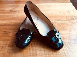 Tod's Ballerina di pelle verniciata nero Pelle