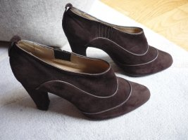 Tod's High-Front Pumps dark brown leather