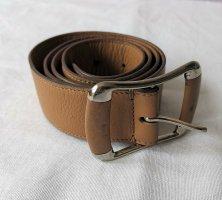 Tod's Cinturón de cuero camel-color plata