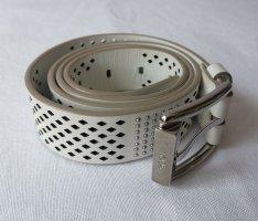 Tod's Cinturón de cuero blanco puro-color plata Cuero