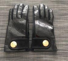 Tod's Lederhandschuhen aus Lack/Wildleder