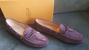Tod's Lila Wild Leder Driving Shoes in Größe 41