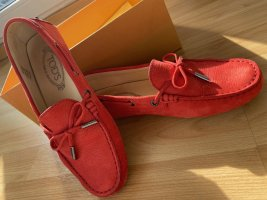 Tod's Moccasins bright red leather