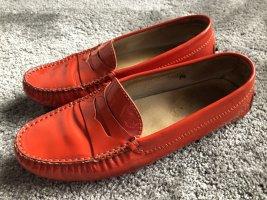 Tod's Loafer Lack orange Größe US 7,5