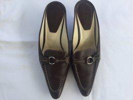 Tod's Sandalo con tacco marrone-nero Pelle
