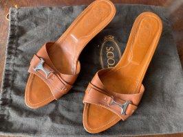 Tod's Mule à talon orange-argenté
