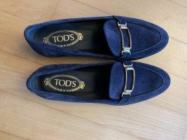 Tod's Mocassins bleu cuir