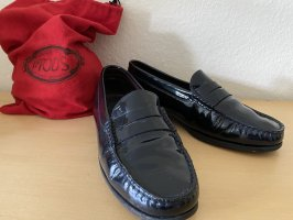 Tod's Moccasins dark blue leather