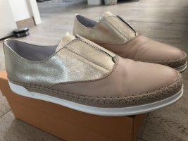 TOD'S Sneaker Gr. 39,5 (eher 40) blass Gold Metallic / Rosé