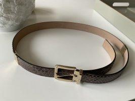 Tods Cintura di pelle marrone-grigio-sabbia Pelle