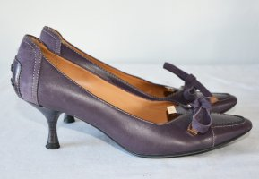 Tod's High-Front Pumps grey violet leather