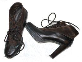 Tod's Bottines à plateforme brun foncé cuir