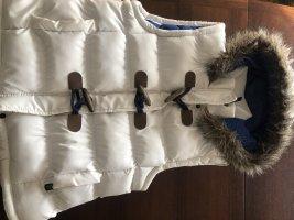 Chaleco con capucha blanco puro fibra textil
