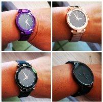 Tolle Armbanduhr Uhr Magnetarmband SCHWARZ  neu ovp