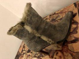 Tolle, ausgefallen Stiefeletten von Graceland - Kord - Fake Fur - Gr. 39