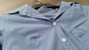 Tolle blau weiß karierte Bluse von United Colors of Benetton in S figurbetont