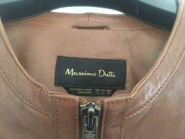 Tolle braune Lederjacke von Massimo Dutti