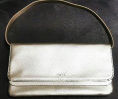 Tolle Esprit Clutch Handtasche Tasche silber metallic neu mit Etikett