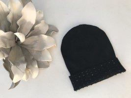 1.2.3 Paris Knitted Hat black mixture fibre