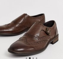 Asos Wingtip Shoes dark brown leather
