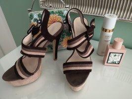 Plateauzool sandalen veelkleurig Gemengd weefsel