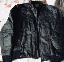 Energie Biker Jacket black-taupe cotton