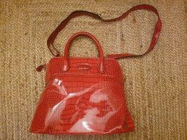 tolle Lack-Kroko Handtasche