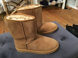 Botas de piel beige-marrón claro Cuero