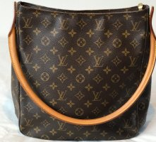 Louis Vuitton Shoulder Bag brown linen