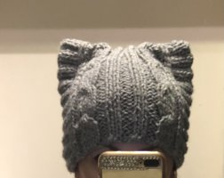 0039 Italy Knitted Hat light grey