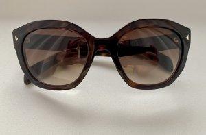 Prada Oval Sunglasses dark brown