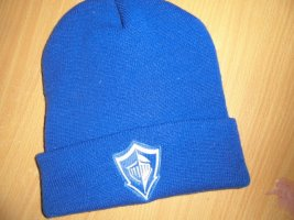 Adidas Beanie blue-white mixture fibre