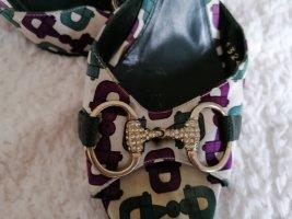 Gucci Escarpin à bride arrière multicolore