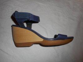 Camper Platform High-Heeled Sandal dark violet leather