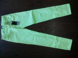 Pantalón elástico verde neón-verde pradera Algodón