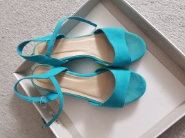 Wedge Sandals light blue-turquoise