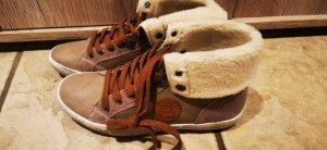 Tolle Slazenger Schuhe Boots gefüttert  neu mit Etikett beige Gr 37