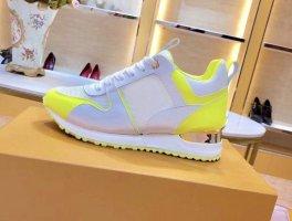 1.2.3 Paris Sneaker stringata giallo neon-bianco