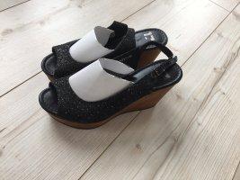 Görtz 17 Plateauzool sandalen zwart