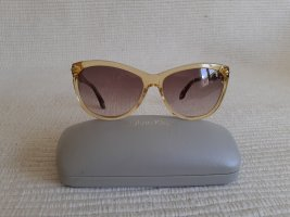 Calvin Klein Angular Shaped Sunglasses gold-colored-brown