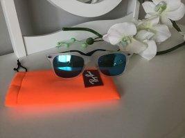 Ray Ban Gafas de sol ovaladas gris claro-azul neón