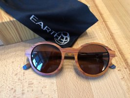 Earth Sunglasses Ronde zonnebril bruin Hout