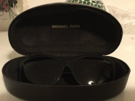 Michael Kors Oval Sunglasses black synthetic material