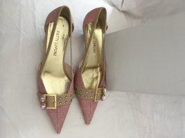 Tolle spitze elegante Pumps Trendfarbe Rosa Leder-Neu