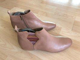 Winter boots nude Leer